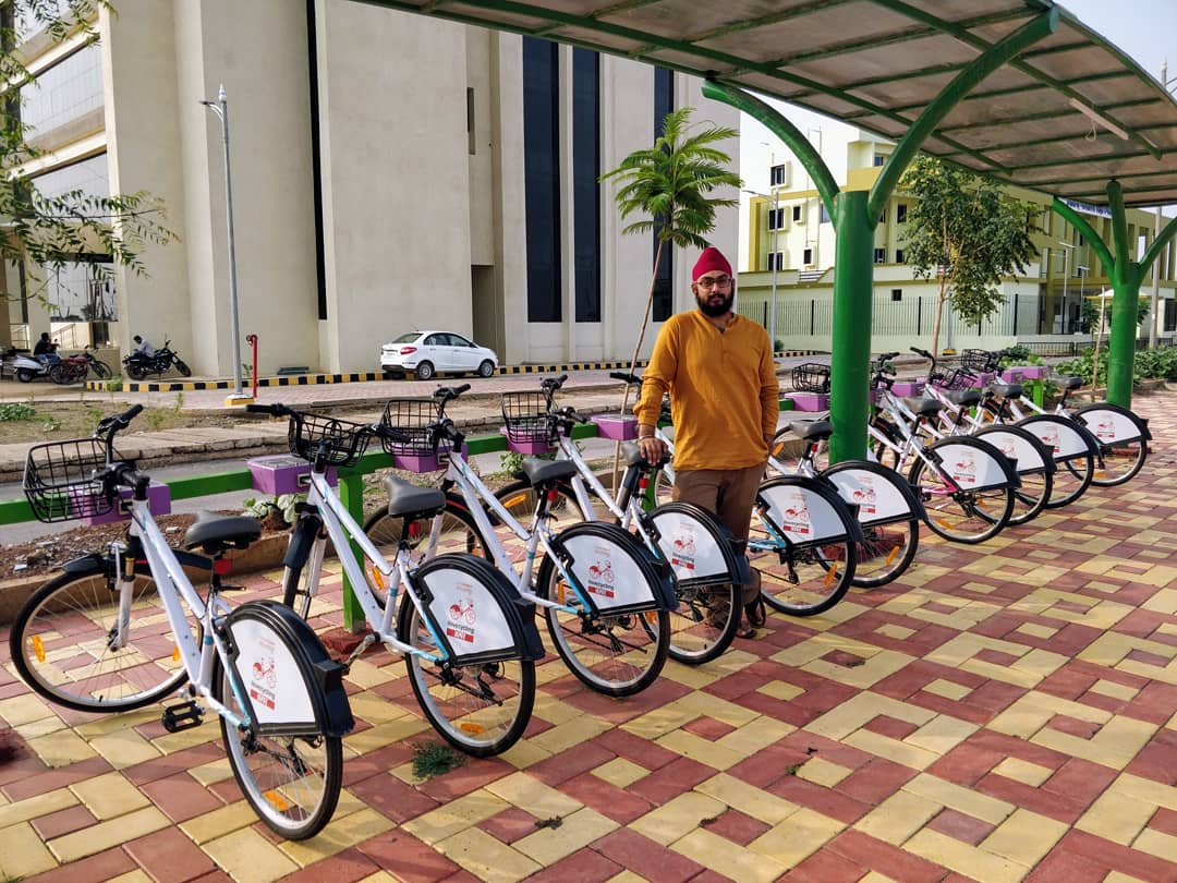 Amandeep Singh On Twitter Rentacycle Initiative By At Nayaraipur