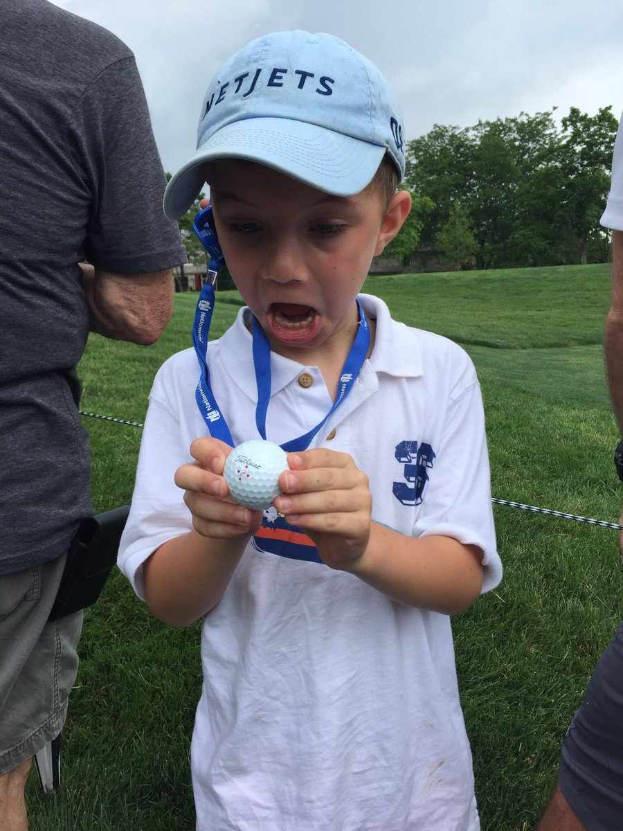 #ThrowbackThursday to one of our favorite volunteer stories from Tournament week! In June of 2009 Timothy's son was in the NICU at @nationwidekids for 19 days. Today he's thriving and Timothy is giving back by volunteering with us at #theMemorial.