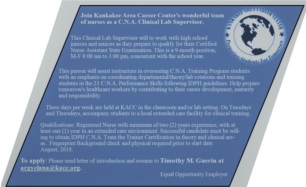 Kacc On Twitter Cna Training Program Expanding Kacc4083