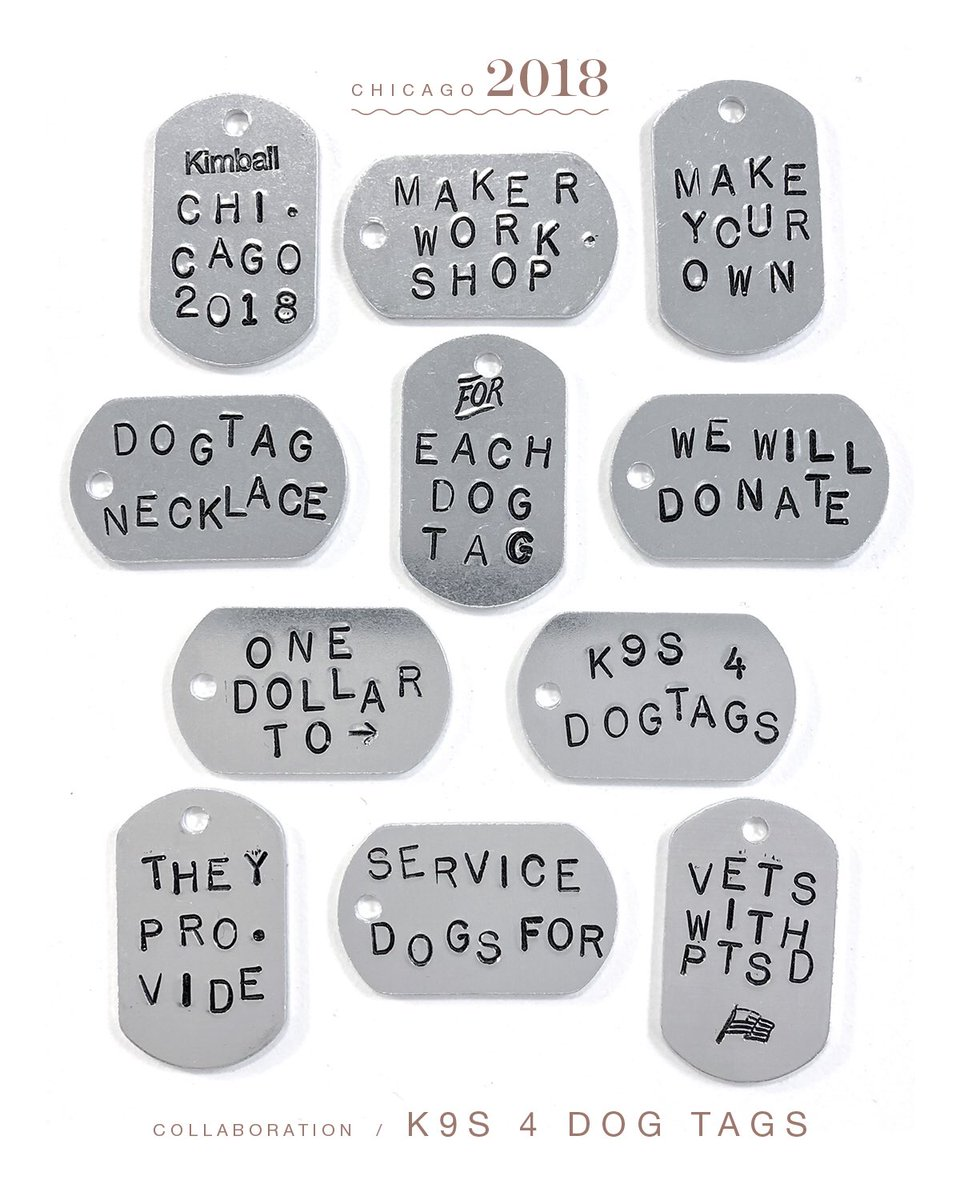 kimball on twitter chicago 2018 k9s 4 dog tags adopts trains