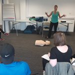 Image for the Tweet beginning: #EmergencyFirstAid training with staff today!
