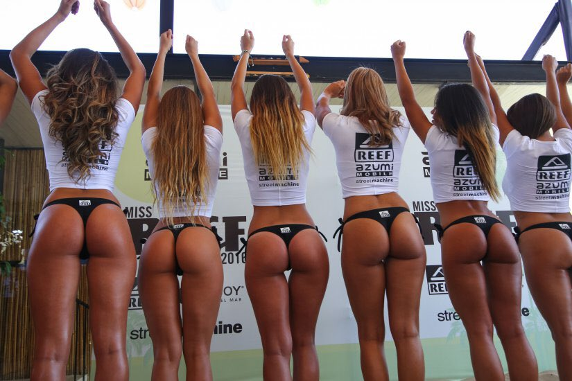 Hot sexy almost naked girls in a bikini contest wow