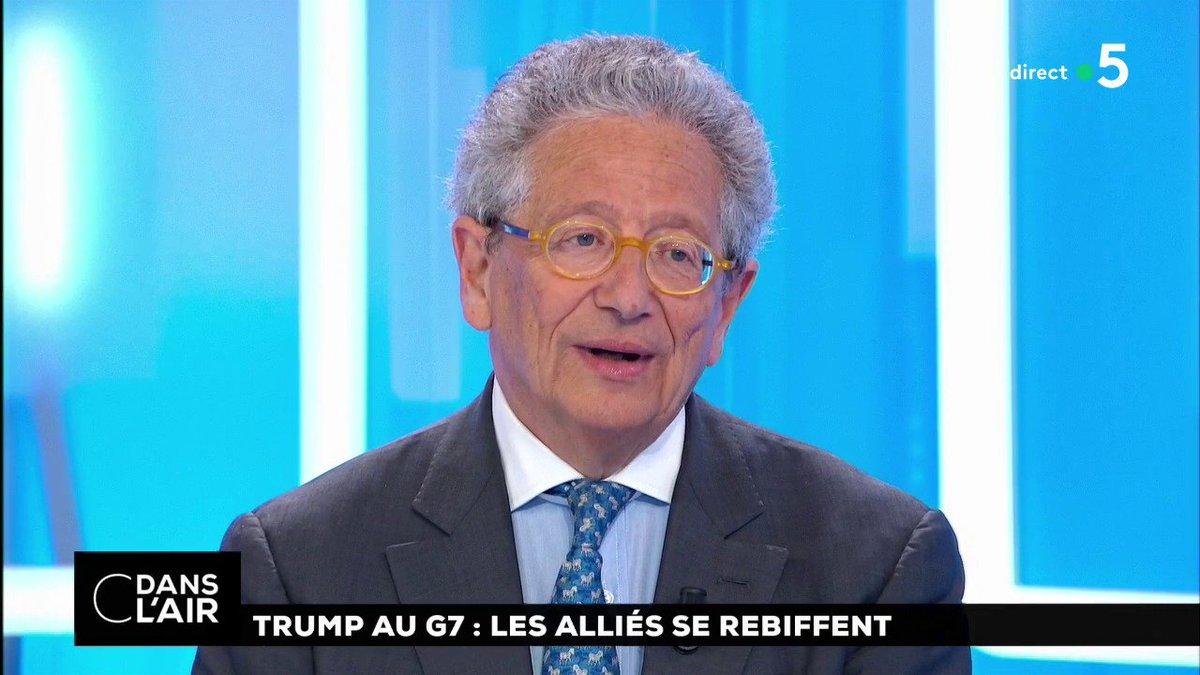 'Au #G7 on va essayer d'éviter le pire, c'est-à-dire l'#Amérique d'un côté et un G6 atomisé de l'autre. L'Amérique a la supériorité militaire et la supériorité du dollar.' Dominique Moïsi #International #EtatsUnis #cdanslair