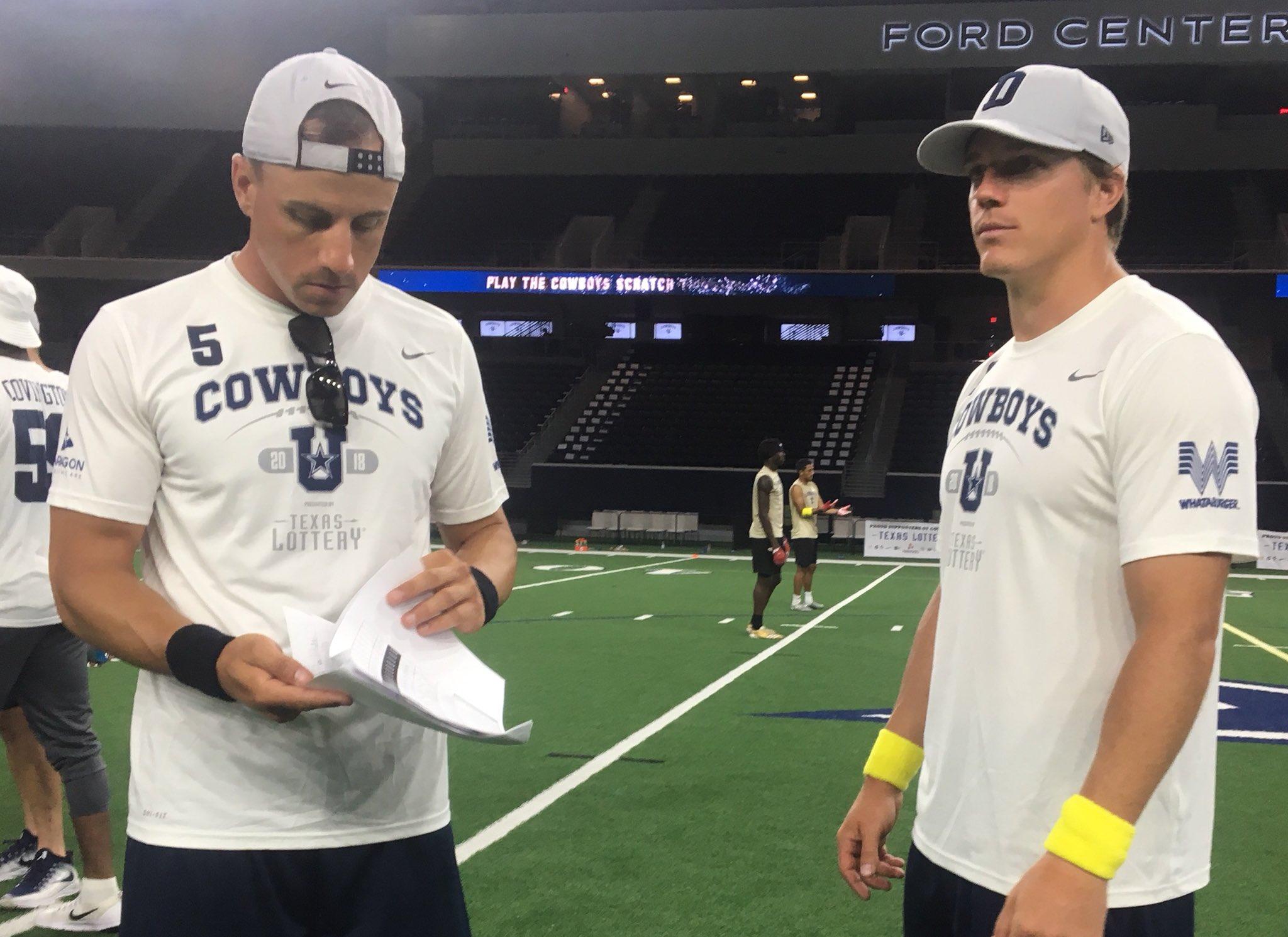 #CowboysU @TexasLottery Championship Game ➡️ Team Dan Bailey vs. Team Chris Jones https://t.co/gLUhWmT05y