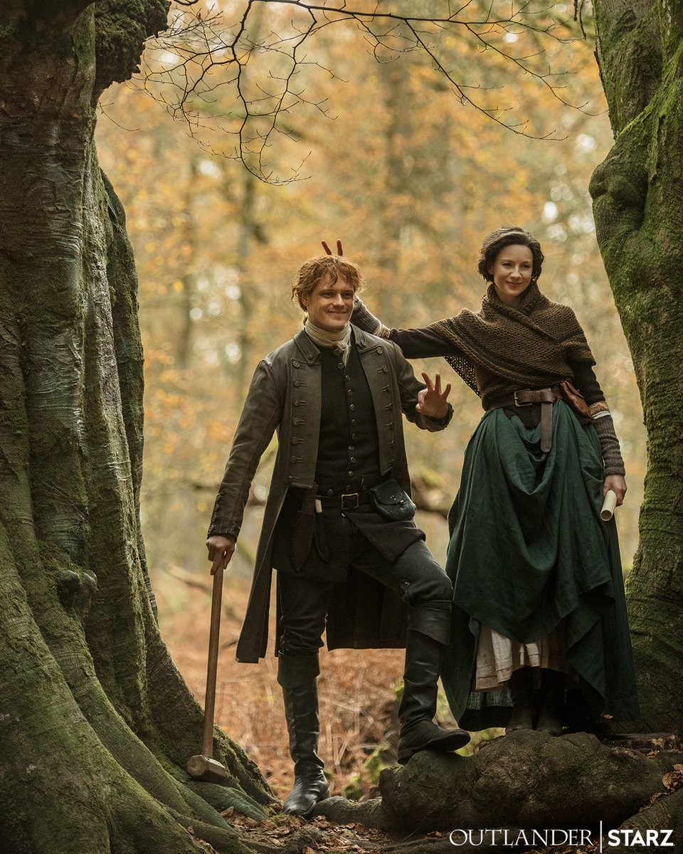 Shh, no one tell @SamHeughan about the bunny ears. #Outlander