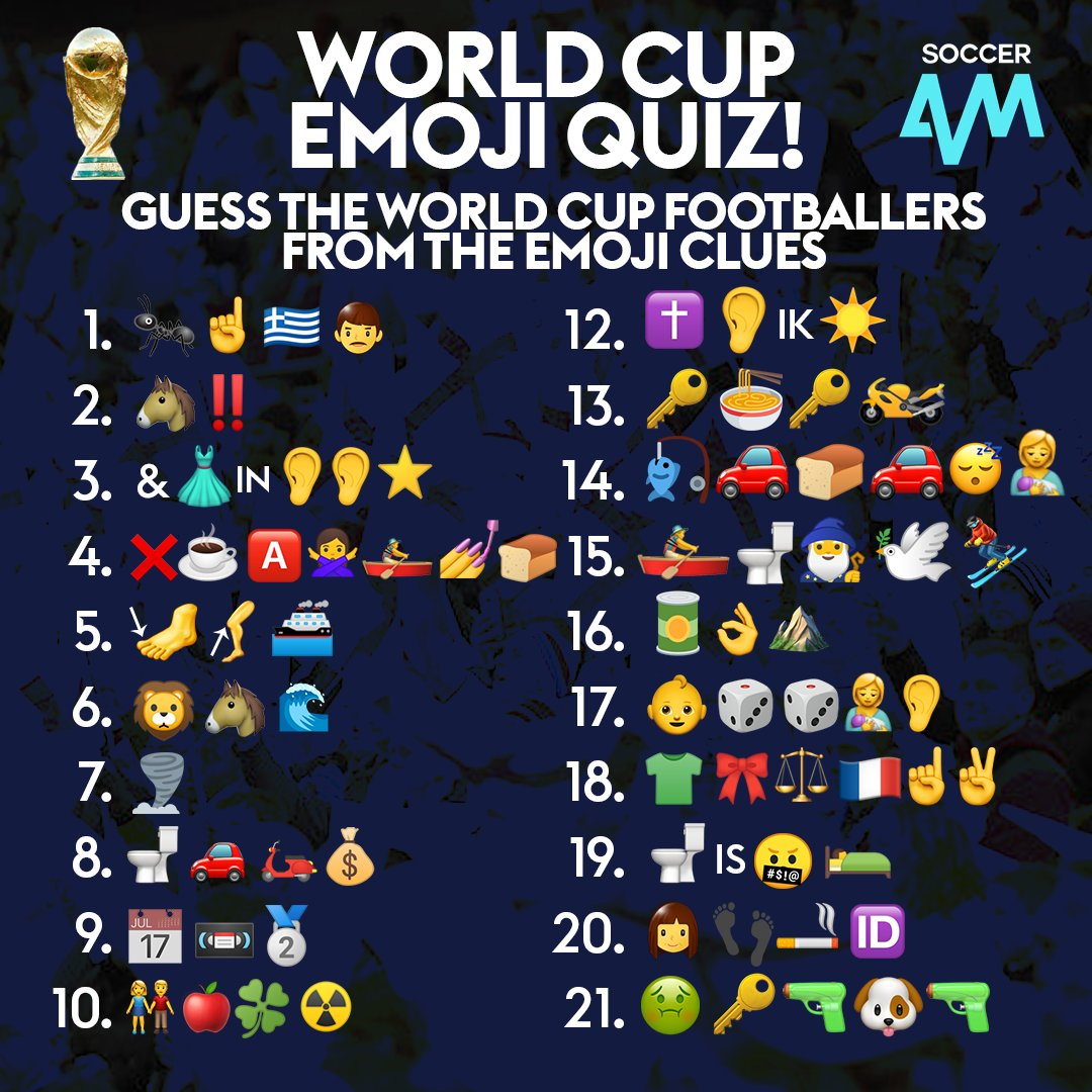 Soccer AM on Twitter: Time to play the World Cup Emoji