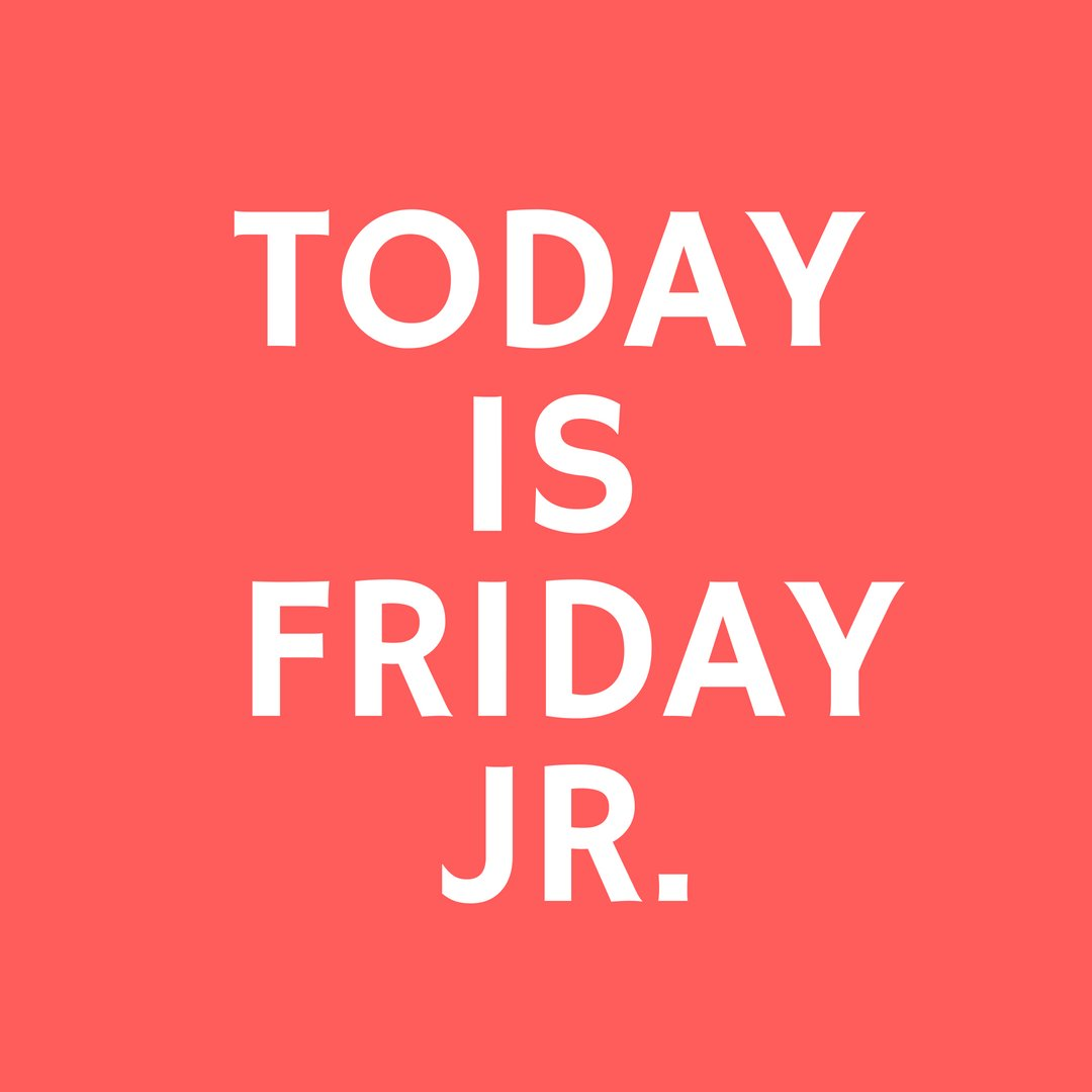 My all time favorite day !! Friday Jr #TGIT