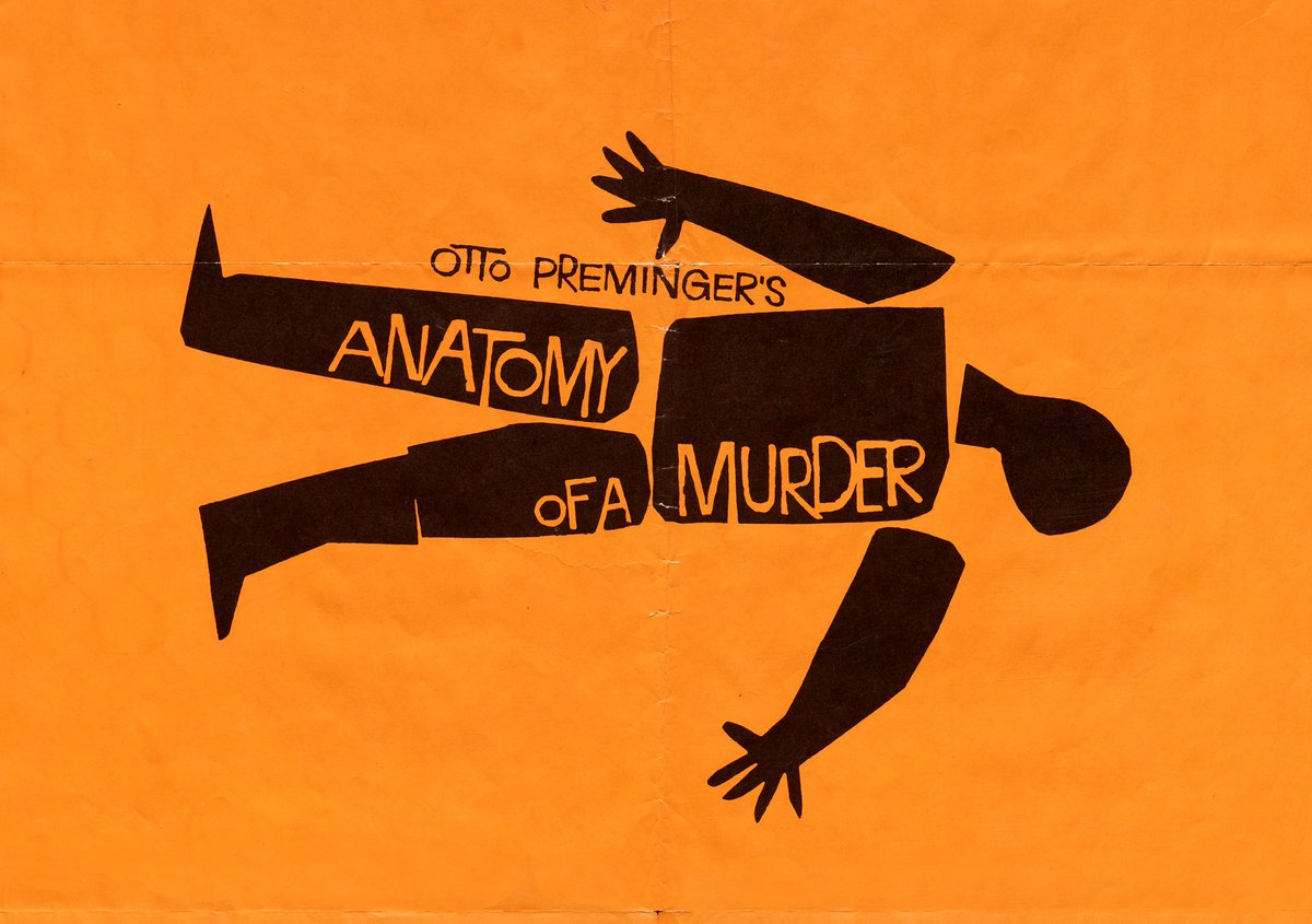 Letterform Archive On Twitter Saul Bass Anatomy Of A Murder 1959