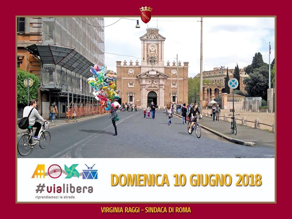 Riappropriamoci delle nostre strade. Il 10 giugno parte la sperimentazione di #ViaLibera. Domenica dalle ore 10 alle 19 i cittadini avranno a disposizione spazi liberi da auto, traffico e smog: goo.gl/KCxgyF @c40cities