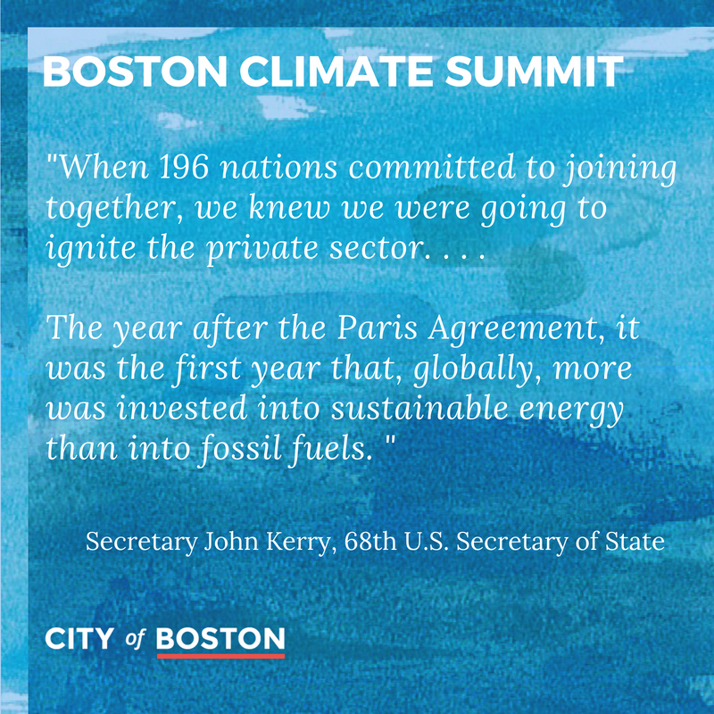 &quot;We have the money to solve this, we have the ingenuity.&quot; - @JohnKerry, 68th United States Secretary to mayors and climate leaders here in Boston with @marty_walsh #actonclimate | #renewable energy | #bostonclimatesummit  http:// boston.gov/climatesummit  &nbsp;  <br>http://pic.twitter.com/f6IdL5omZB