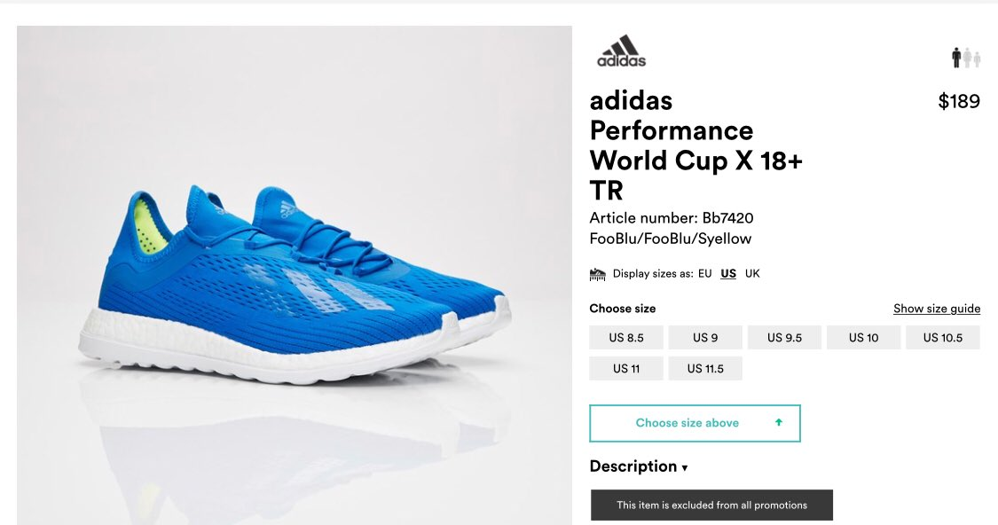 finest selection bcdce 8cd96 Adidas World Cup X 18+ TR available in select sizes on sneakersnstuff  Fooblu httpsbit.ly2JlmATp SYellow httpsbit.ly2xO6YlQ ...