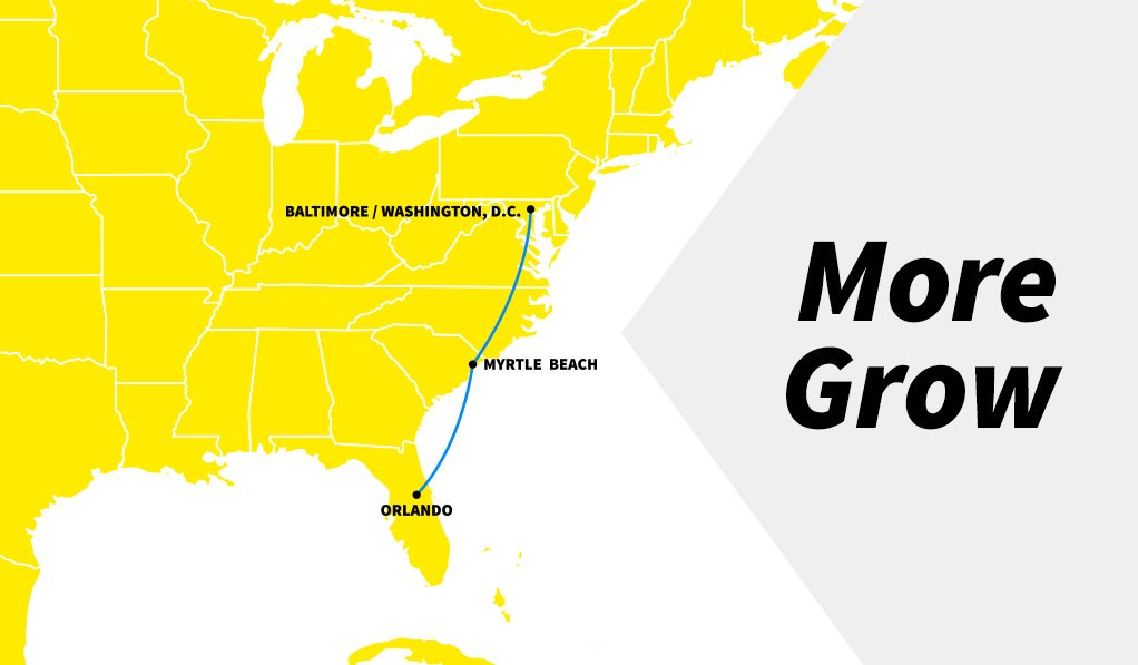 Bwi Marshall Airport On Twitter Getting Away To Myrtle Beach Is About Become Even Easier Spiritairlines Has Announced The Expansion Of Myr