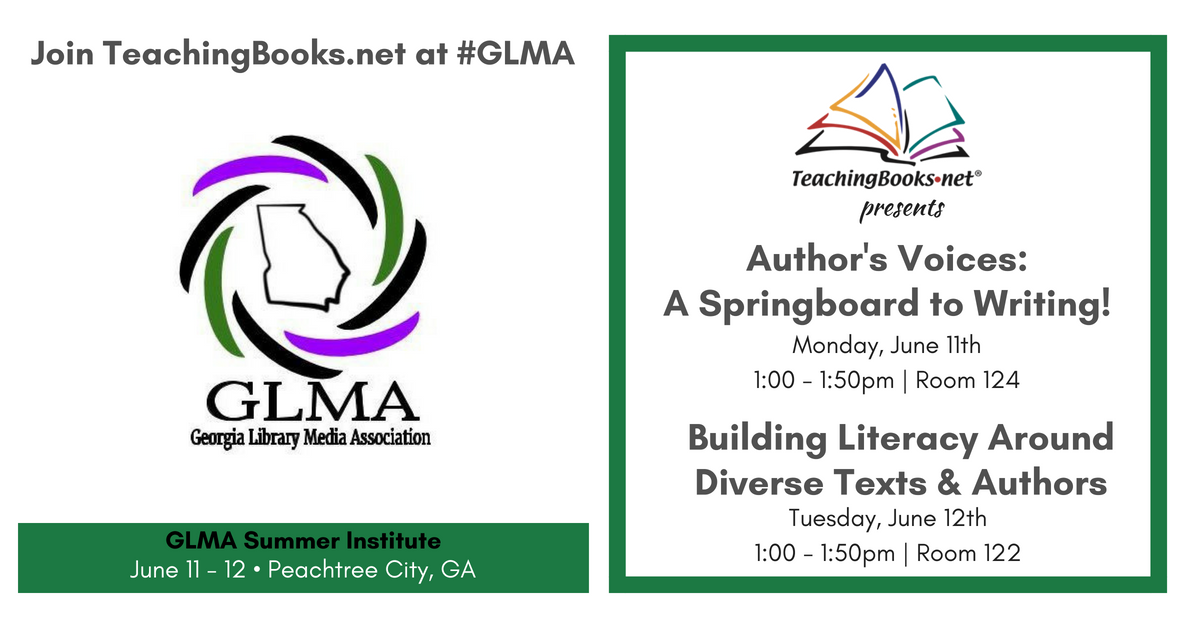test Twitter Media - Join us for two great sessions at the #GLMA Summer Insitute. Can't wait to meet GA librarians! 😀  * Author's Voices: A Springboard to Writing! https://t.co/ixpz9C2FS6  * Building Literacy Around Diverse Texts & Authors https://t.co/w3vAIl3wwr https://t.co/fDLkXixVeK