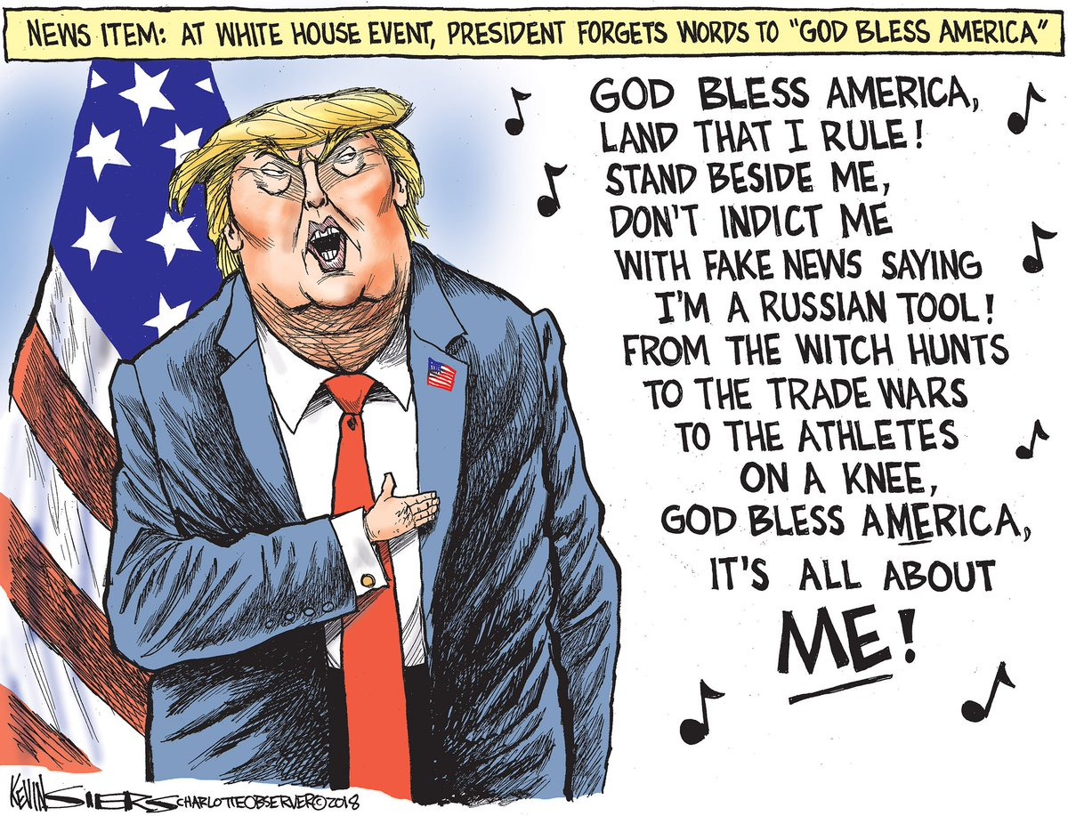 Image result for image cartoon trump forgets words all about ME