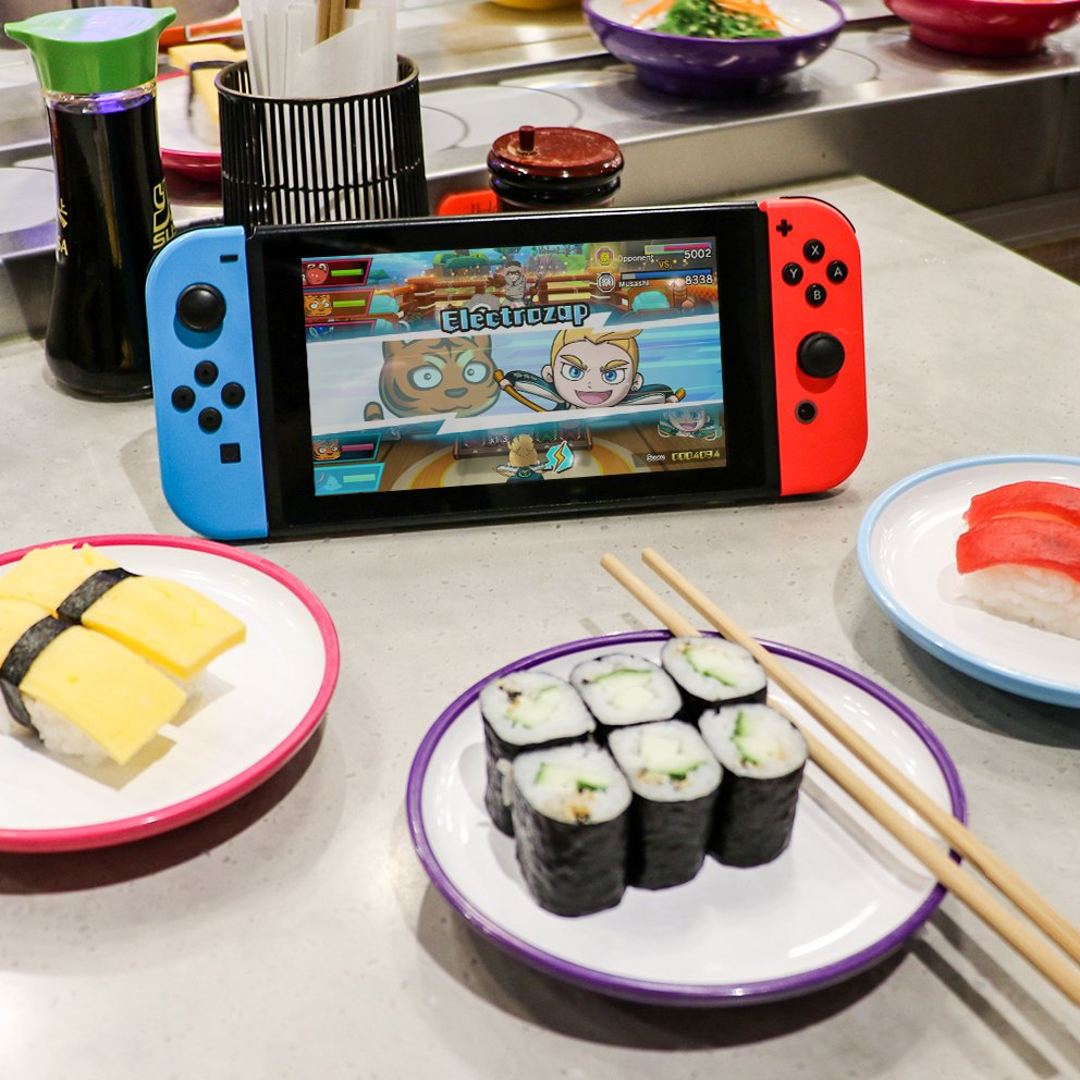 Celebrate #InternationalSushiDay by treating yourself to something fresh! Pair your favorite sushi dish with the fast-paced action of #SushiStriker: The Way of Sushido, available now on #NintendoSwitch!