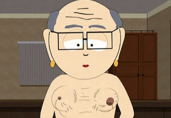 Mr garrison tits, video of getting erect nipples