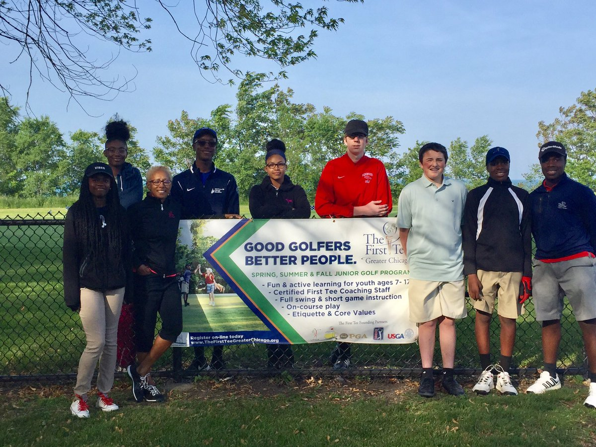 Fun evening @ChicagoParks South Shore Golf Course with @FirstTeeChicagos South Side High School Prep League & Junior Matches.
