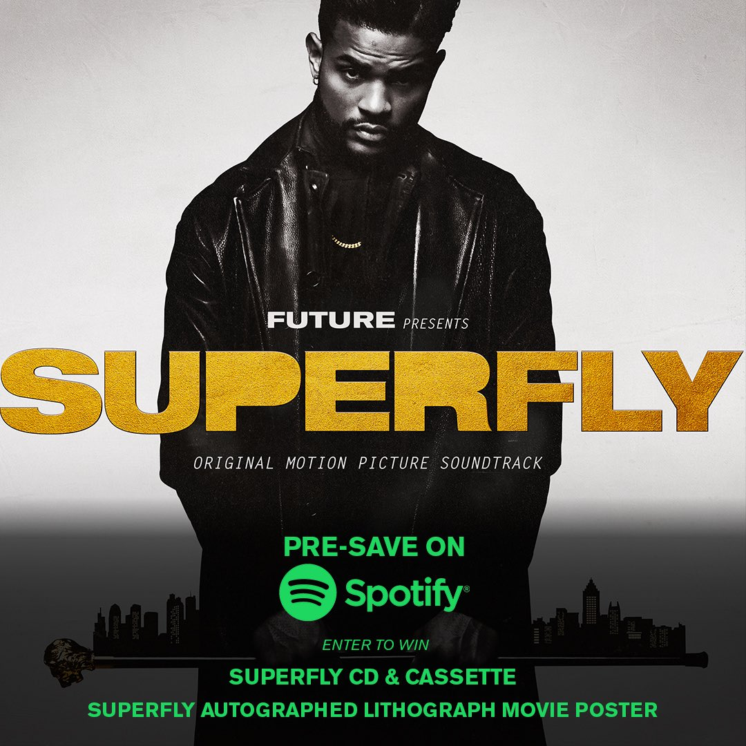 Pre-Save the #Superfly Soundtrack now on @spotify for a chance to win a #Superfly CD and Cassette!