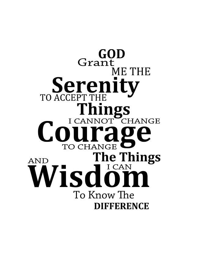 Serenity Prayer be with me 🙏🏾