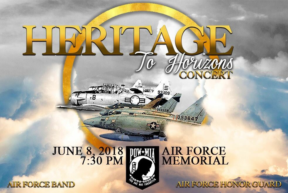 Did we mention that tomorrow's Heritage to Horizon concert at the Air Force Memorial will feature a flyover of F-16 falcons courtesy of @dcang113th!