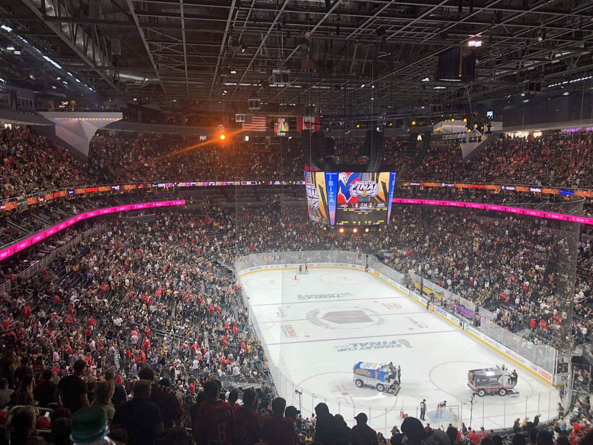 0-0 after the first period. #goknightsgo #stanleycup #vegasstrong