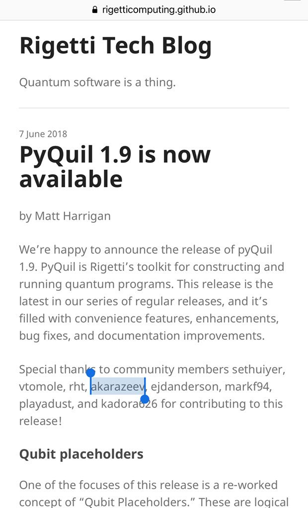 pyquil hashtag on Twitter