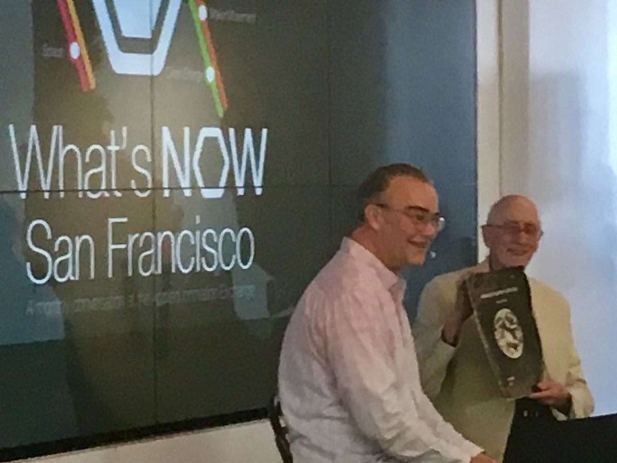 .@stewartbrand with an original copy of Whole Earth Catalog. One of maybe 5 that remain. @TheWELL  #WhatsNowSF https://t.co/qTNHE4NlPR