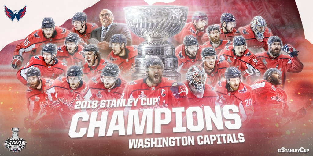 THE @Capitals ARE THE 2018 #STANLEYCUP CHAMPIONS! https://t.co/5hIneswpFK