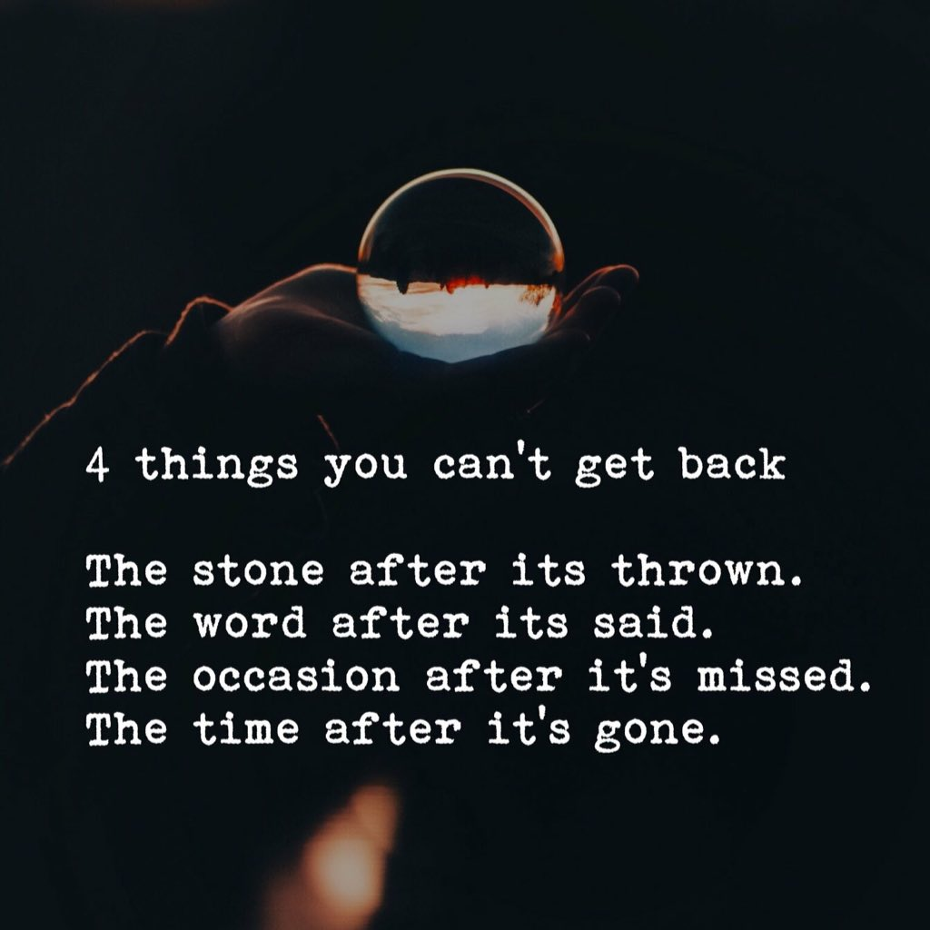Inspirational Quotes On Twitter 4 Things You Cant Get Back The