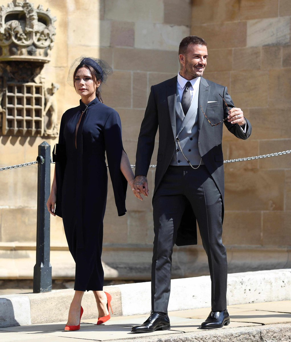 David and Victoria Beckham are donating the outfits they wore to last  month s royal wedding to a competition that s raising money for the   WeLoveMCRfund ... 8dda88b3d