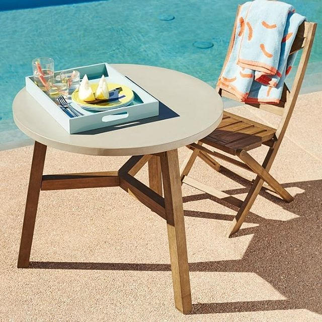Cupio Concrete On Twitter Mosaic Outdoor Bistro Table Solid