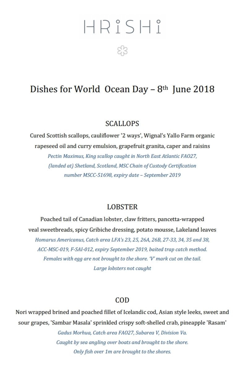 Gilpin Hotel Lh On Twitter Dishes For Worldoceansday