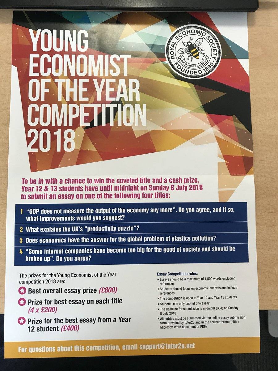 royal economic society on twitter one month to get your essay  royal economic society on twitter one month to get your essay entries in  for our young economist of the year competition with tutoruecon tutoru