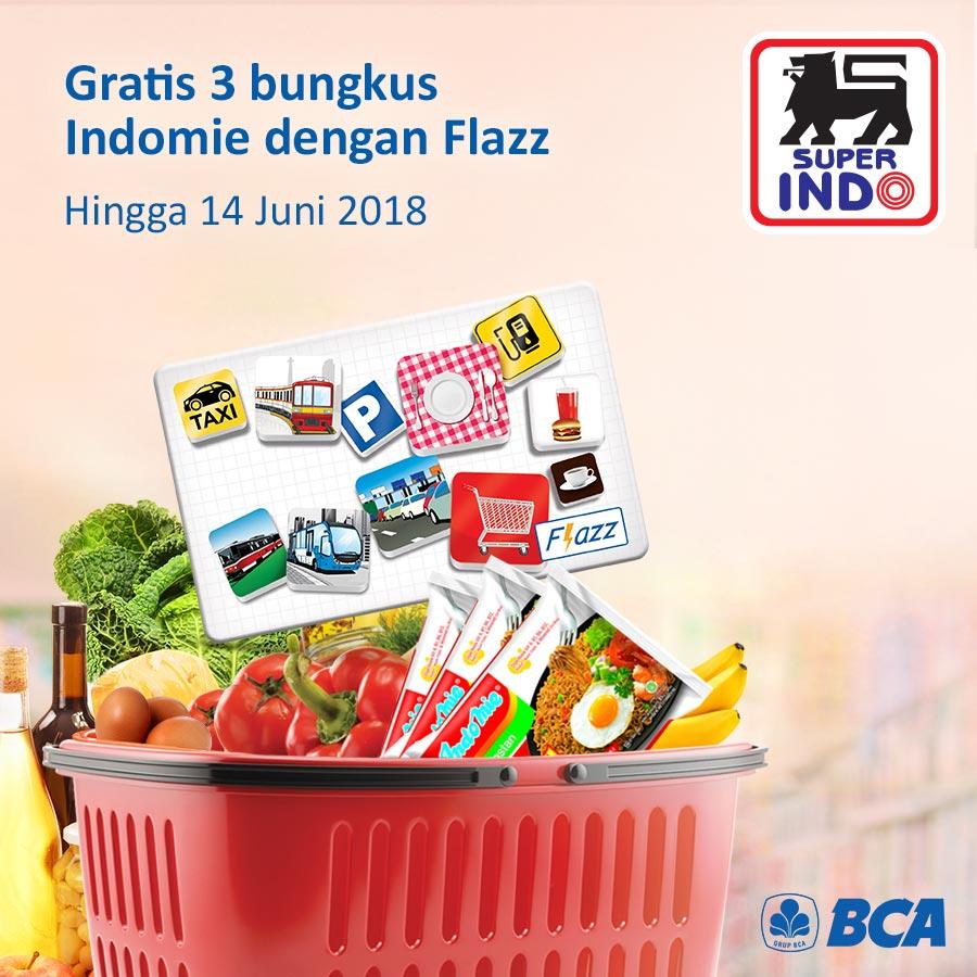 Rp 100.000,- menggunakan Kartu Flazz Promo berlaku hingga 14 Juni 2018 Info lebih lanjut : https://bit.ly/2I3Js4S Like dan share info promo ini Super Indo ...