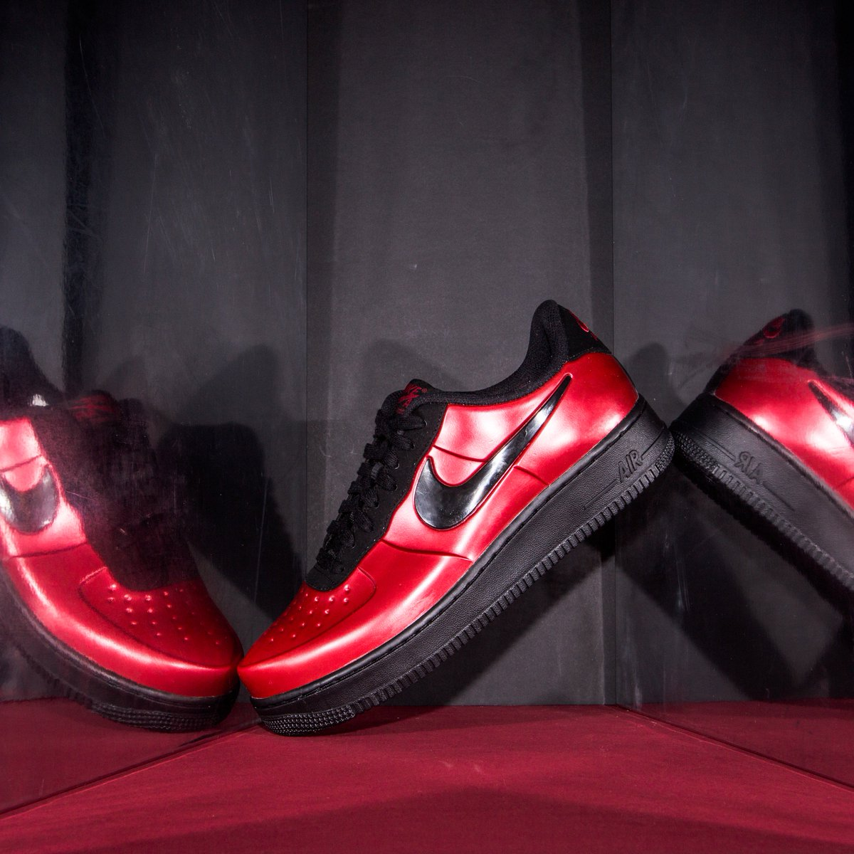 nike air force 1 foamposite pro cupsole red