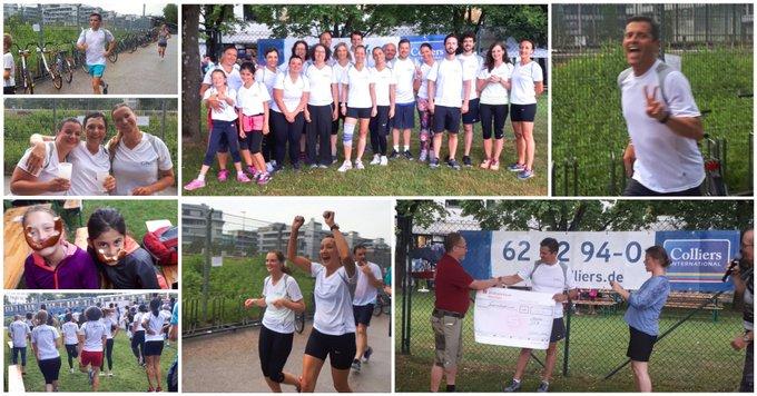 Läuft bei Colliers!<br><br>Danke an alle, die beim Spendenlauf @Siemens teilgenommen und damit das Kinderhospiz München @StiftungAKM unterstützt haben!<br><br>Mehr Informationen zum Kinderhospiz:  t.co/TG8bZU9ouV