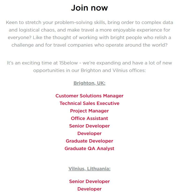 15below on twitter we ve got some brand new roles at 15below job