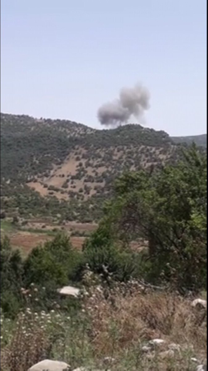 Turkish fighter jets bombarded PKK bases in Bakurman, Akre,  Duhok. for the first time since starting their military operation in Kurdistan Region.