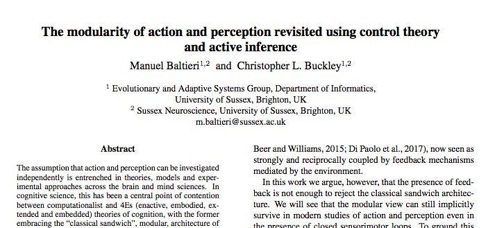 8915450704ee Active inference and  embodied cognition. New from myself and  drclbuckley