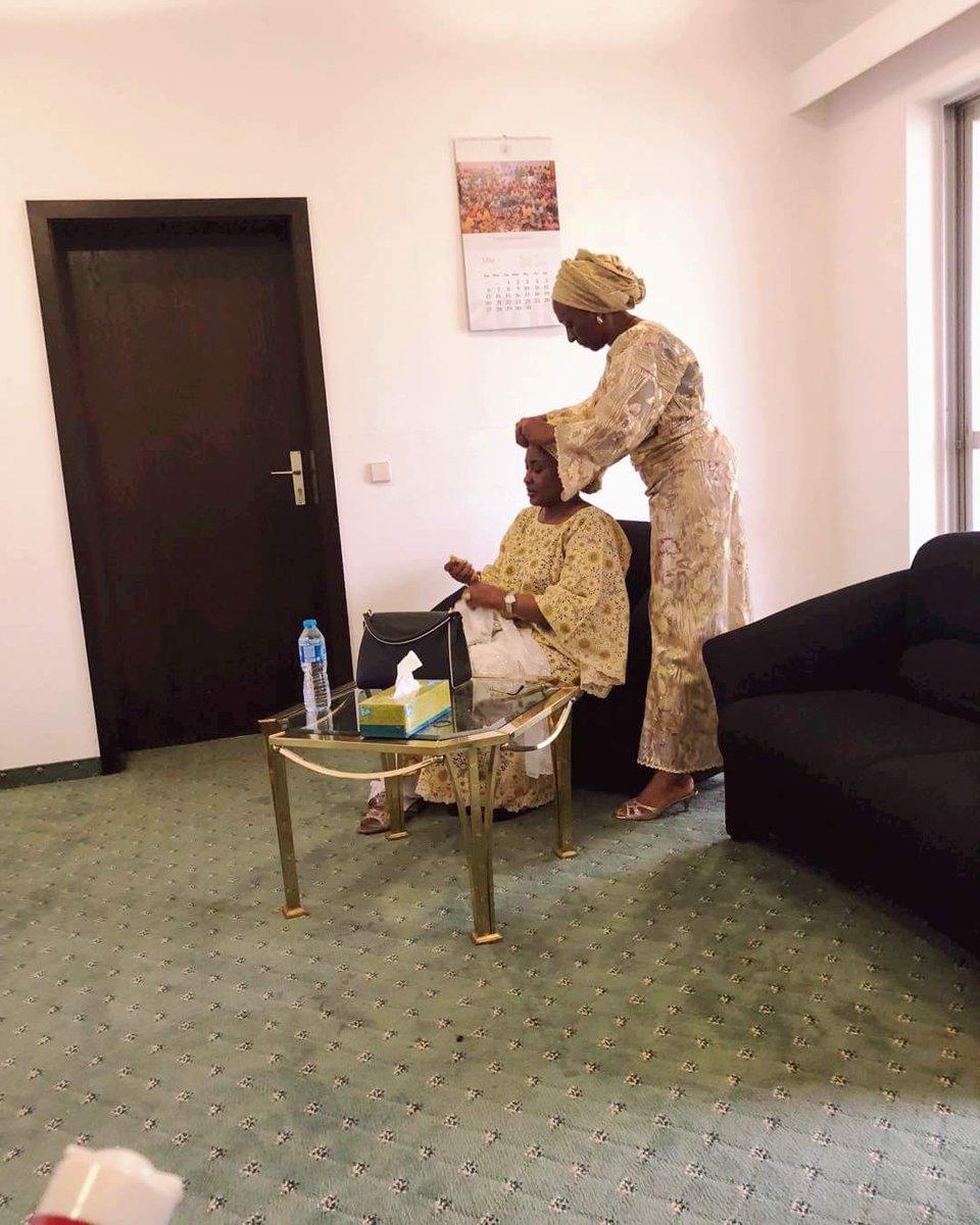 Dolapo Osibajo ties Aisha Buhari's Gele