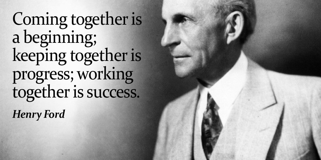 Ford Quotes | Tim Fargo On Twitter Coming Together Is A Beginning Keeping
