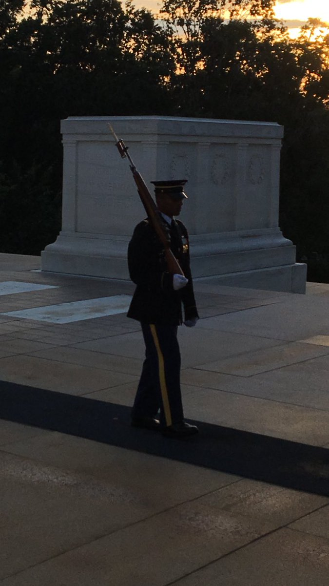SSG Kevin Calderon is concluding his final, 10-hour guard shift as a Sentinel at the Tomb of the Unknown Soldier.