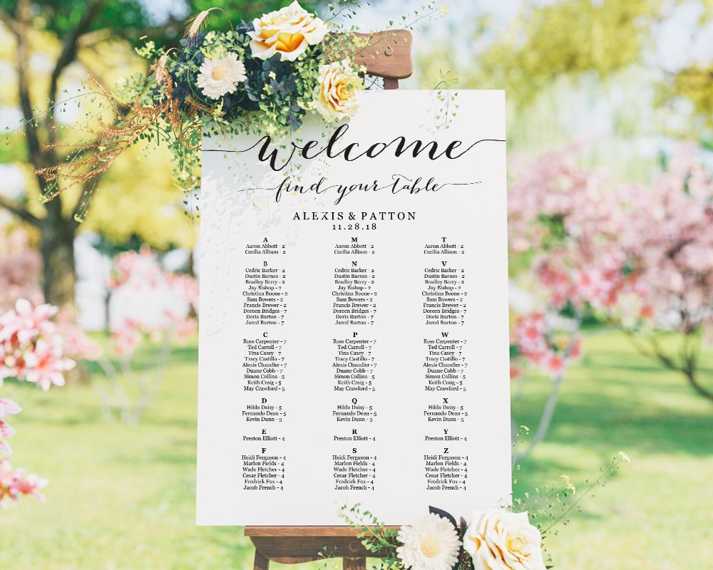 Find This And Other Templates In Our Etsy Weddingideas Weddingseatingchart Seatingchart Seatingcharts Seatingplan Seating Weddings Weddingwire