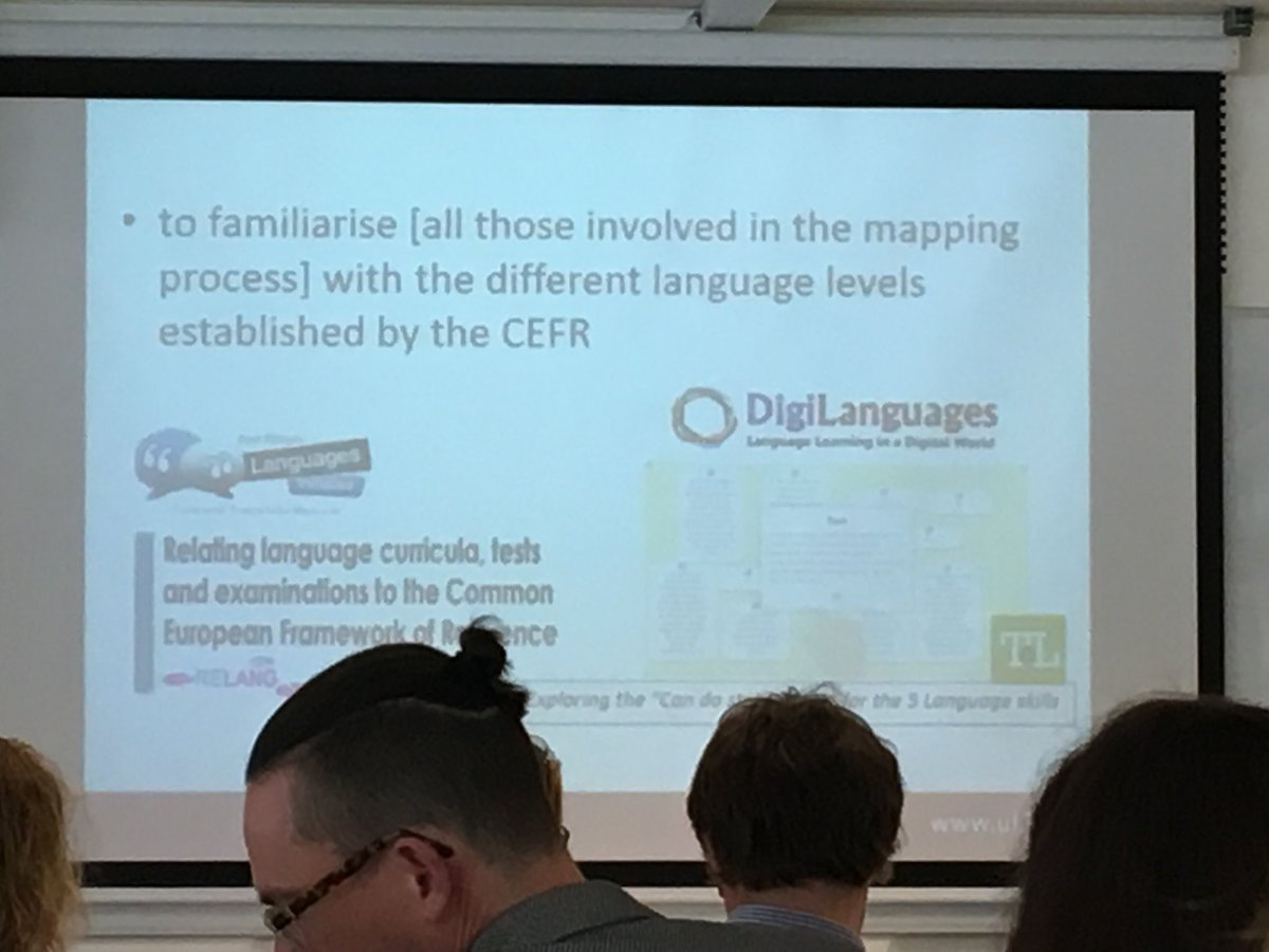 @BatardiereMT presets UL project on implementing #CEFR. #RELANG @ECMLCELV Workshops hosted over the last few years were hugely beneficial! Glad to hear!