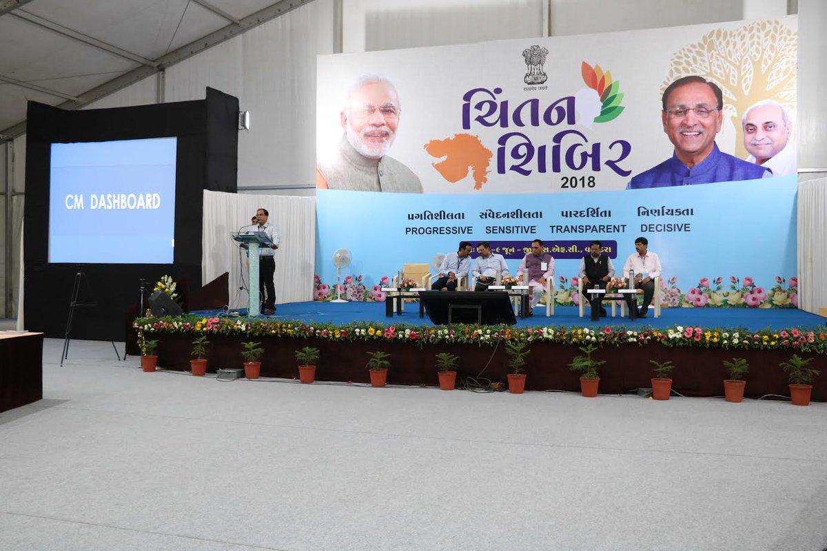 Rupani showcases CM dashboard at Chintan Shibir, asks each department to have its own dashboard