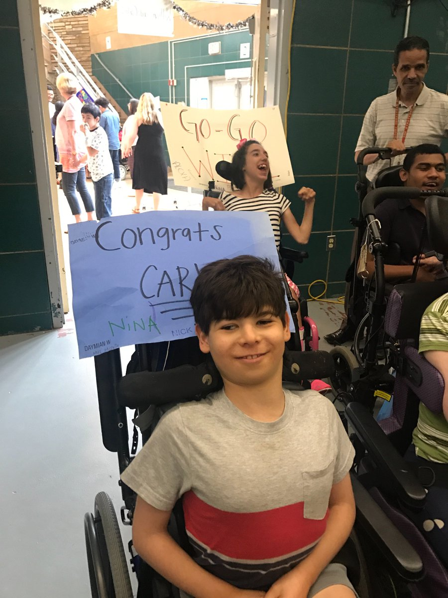 Cheering on will and Carlos at graduation... wheelchairs really help hold up congrats signs!!! <a target='_blank' href='https://t.co/SRjJHRtXN2'>https://t.co/SRjJHRtXN2</a>