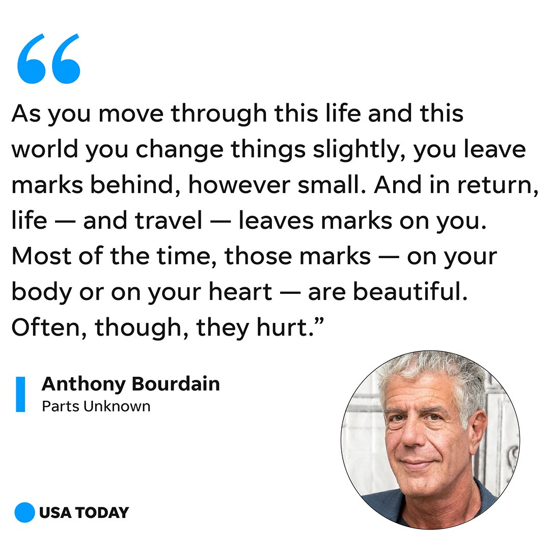 Usa Today On Twitter Anthony Bourdain Was Known For His Love Of