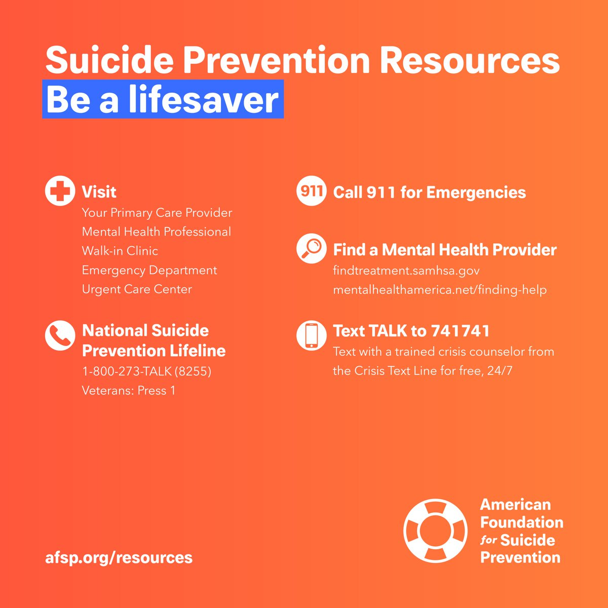 american foundation for suicide prevention (@afspnational) | twitter