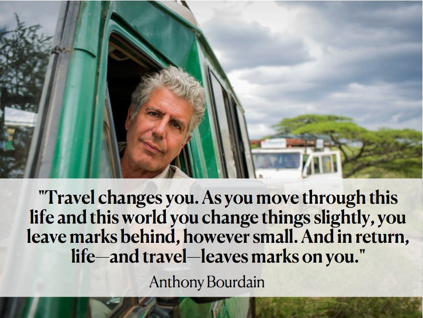 Anthony Bourdain has died at the age of 61. His work in journalism and influence on travel will continue to inspire us. If you or someone you love is struggling with suicidal thoughts, contact the National Suicide Prevention Lifeline at 800-273-8255. https://t.co/W9ERauxzvL