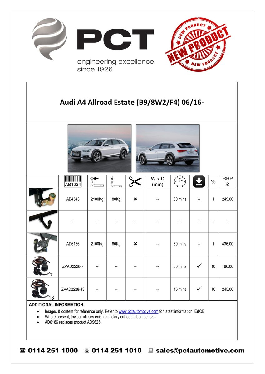 Audi Allroad Towbar Electrics The Car Pct Automotive Wiring Diagram Source On Twitter Towbars In Fixed Flange Detachable